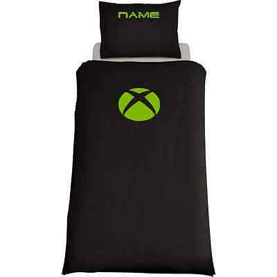 Xbox Themed Console Duvet Cover /& Pillows Bedding Set Personalised Black