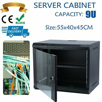 "9U Server Network Data Rack LAN Cabinet 21"" 21 Inch Wall Mount 400mm Deep AU SAA"