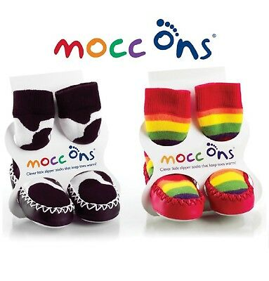 Mocc Ons Baby Slipper Socks Toddler Moccasin Shoes 6 months to 3 Years