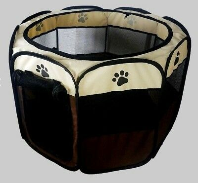 UK Oxford  Pet Dog Cat Playpen Tent Portable Sport Fence Kennel Cage Crate