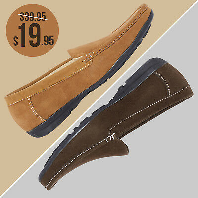 Mens Formal Slip Ons Suede Driving Moccasins Penny Loafers Fashion Boat Shoes