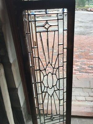 SG 2478 antique all beveled glass transom window 19.5 x 58.5