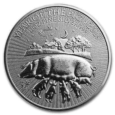 2019 Great Britain 1 oz Silver Year of the Pig BU - SKU#172805