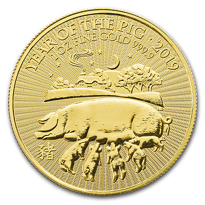 2019 Great Britain 1 oz Gold Year of the Pig BU - SKU#172803