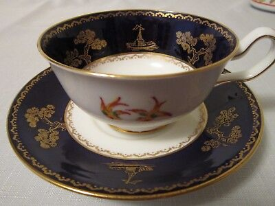 Chelson Cup & Saucer Superb Condition  Black & White