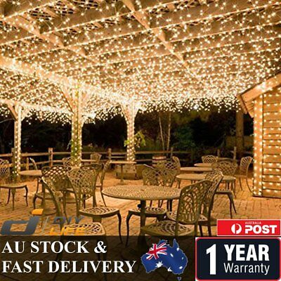 500LED 100M Warm Cool White Fairy Christmas String Strip Lights Party Outdoor BS