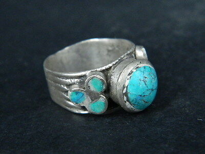 Antique Silver Ring With Stones 1900 AD  #STC508