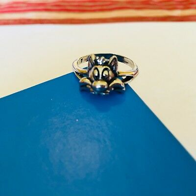 Vintage Sylvester The Cat Ring Stamped WB 1994 Size 7 Silver Tone
