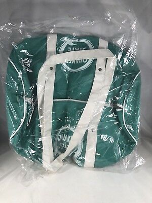 "VINTAGE NOS Quaker State Oil Advertising Duffel Bag Zippered NEW 15"" x 9"""