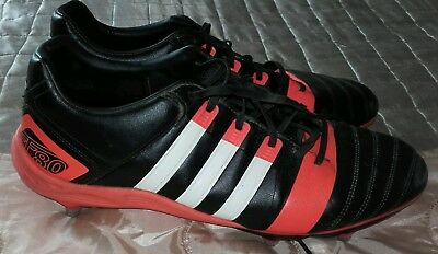 Men's Size 12 Adidas FF80 TRX SG II Rugby Boots Black/White/Solar