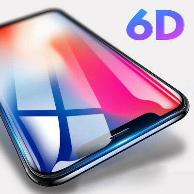 6D 9H Tempered Glass Screen Protector for Apple iPhone XS Max/XR/X /8 Film Guard