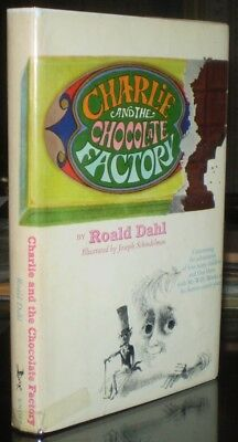 CHARLIE AND THE CHOCOLATE FACTORY, by ROALD DAHL, LATER STATE, DJ w $3.95 INTACT