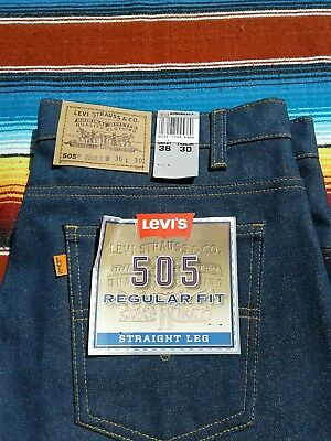Vintage 1980s orange tab 505 Levi's made in USA deadstock with flasher RARE htf