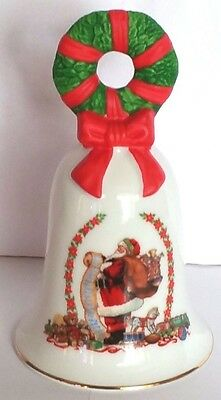 Avon Porcelain Collectors Christmas Bell 1995 7 X 3 Inches