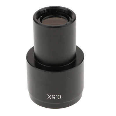 0.5X C-mount Adapter for Microscope CCD Camera Digital Eyepiece Lens -Black