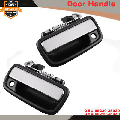 Pair of Front Exterior Chrome Door Handle For 1995-2004 Toyota Tacoma