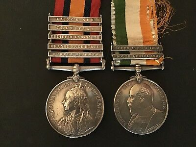 Queens South Africa Medal And Kings South Africa Medal Royal West Surrey Regt