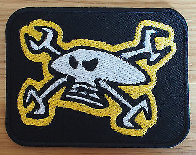 Motorcycle Biker Cloth Patch Leathers Isle Of Man TT Guy Martin Skull & Spanners
