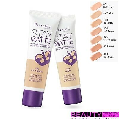 RIMMEL Stay Matte Liquid Mousse Foundation 30 ml CHOOSE SHADE RM007