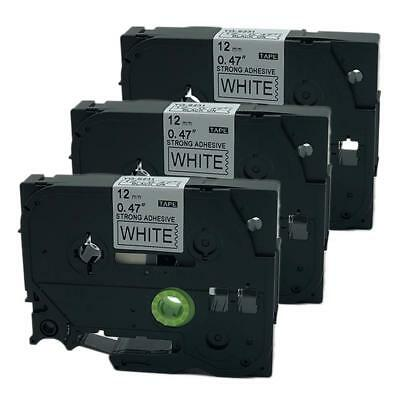 3PK Compatible for Brother P-Touch Laminated TZ Tz Label Tape Cartridge TZe-S231