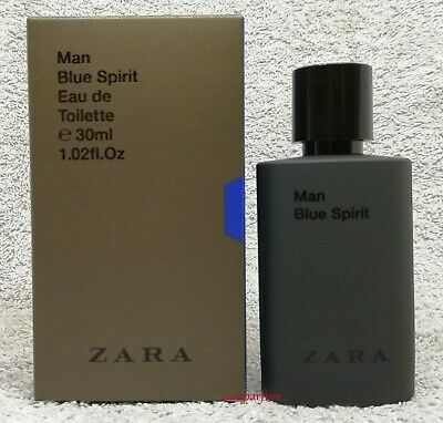 ZARA MAN BLUE SPIRIT MEN'S ORIGINAL PERFUME Genuine Eau Toilette 30ml 1floz NEW