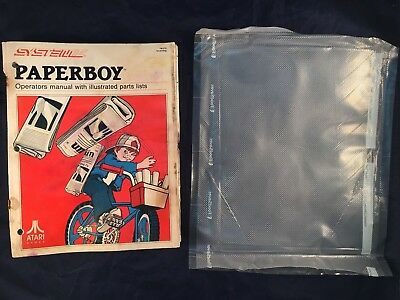 Atari PaperBoy Arcade System 2 Operators Manual & Illustrated Parts List