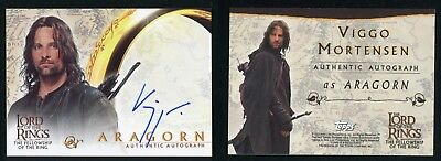 2001 Topps Lord of The Rings Fellowship LOTR Viggo Mortensen Autograph Auto Card
