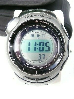 montre sport casio protrek triple sensor tough solar