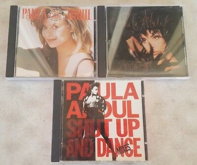 Lot of 3 Paula Abdul CDs - Forever Your Girl, Spellbound & Shut Up And Dance