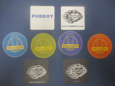 8 Different BLUE TONGUE / Pubboy group  Micro Brewery BEER Coasters