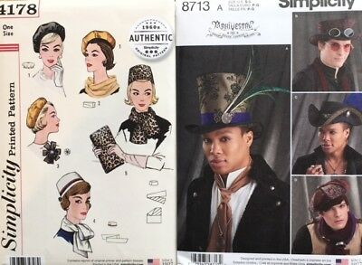 Simplicity Sewing Patterns Hats, Scarves and Accessories  incl Autumn 18