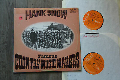 LP - HANK SNOW - DOPPEL LP - Famous Country Music Makers