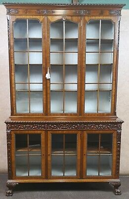 Edwardian Mahogany Display Cabinet In The Chippendale Style