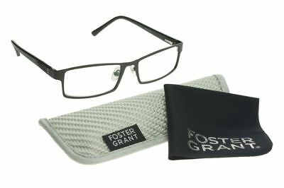 Foster Grant Multi Focus Advanced Mens Reading Glasses, Sawyer Black, Readers