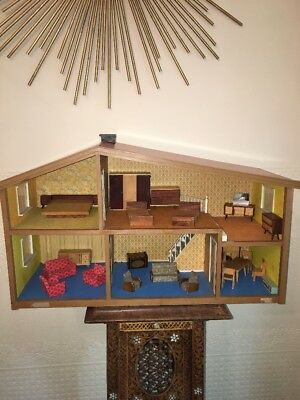 Lundby Swedish Vintage Dolls House 1950s With Mid Century Furniture