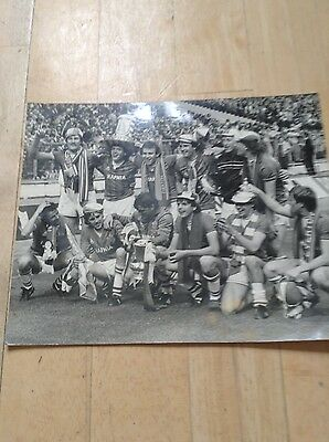 Everton Black & White Photograph 1984 FA Cup Winners