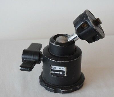Manfrotto 352  Tripod Ball Head  Pre Owned Photographic