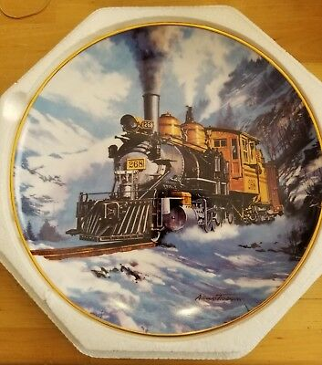 Collectors plate The Franklin Mint Royal Doulton Winter on Marshall Pass