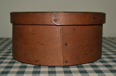 Antique Vintage Round Bent Wood Band Box Pantry Box Farmhouse