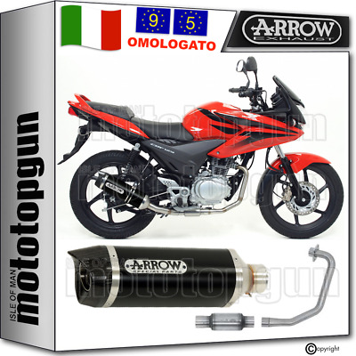 Arrow Scarico Completo Cat Thunder Carby Alluminio Nero Honda Cbf 125 2009 09