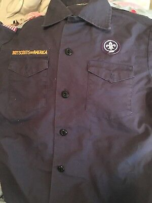 BSA Boy Scouts Of America Cubscouts Blue Shirt Size Youth Medium