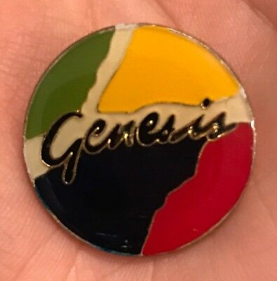 VINTAGE! 1980s GENESIS CLASSIC ROCK & ROLL BAND LAPEL HAT TIE PIN