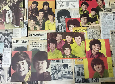 Lot Vintage Clippings ~ THE OSMONDS ~ OSMOND BROTHERS ~ Donny Merrill Jay Alan