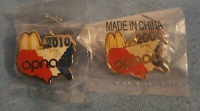 McDonald's 2006 + 2010 Official OPNAD Pins