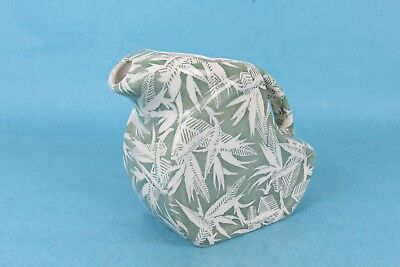 Vintage Wallace China Shadow Leaf Green And White Ice Lip Ceramic Water Pitcher