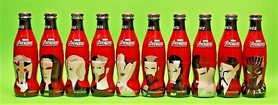New 2018 Coca Cola Marvel Avengers Infinity War Empty Glass Bottles Complete Set