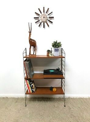 60s Rare Amazing Mid Century vintage String Nisse display shelving floor unit