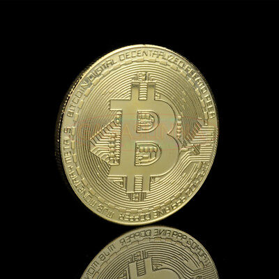 New Gold Plated Bitcoin Coin Collectible Gift BTC Coin Art Collection Physical