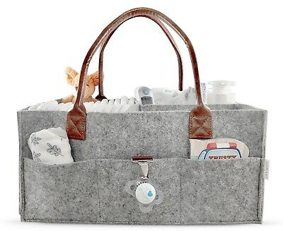 Lily Miles Baby Diaper Caddy | Nursery Diaper Tote Bag | Large Portable Car Trav