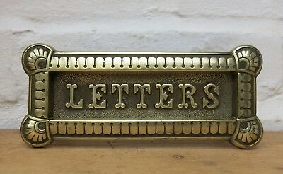 ANTIQUE / VICTORIAN BRASS Gravity Letter Box (READY TO FIT)